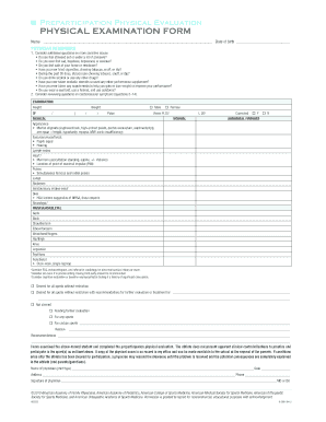 Mercy Health Physical Assessment Form Word