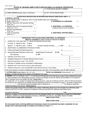 Georgia G4 Form - Fill Online, Printable, Fillable, Blank   PDFfiller