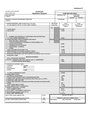 SAMPLE Budget form and Justification.doc - desu
