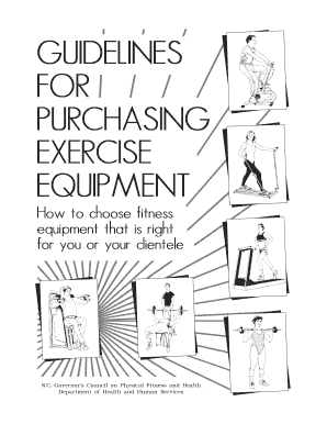 guidelines for purchasing exercise equipment form
