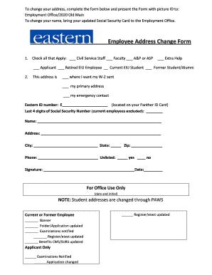 employee change of address form - Fill, Print & Download Online ...
