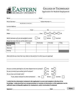 job application letter for any
