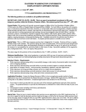 Secretary Cover Letter No Experience SECRETARY CS07 33 1976