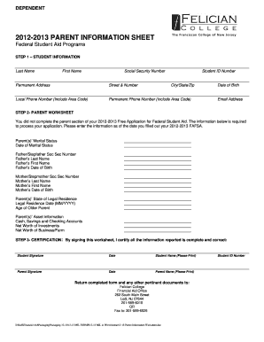 editable parent phone numbers and email sheet form