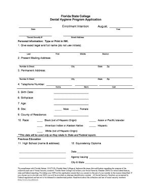 12262783 Job Application Form Dental Istant on