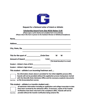 Ncaa Letter Of Intent   Fill Online, Printable, Fillable, Blank