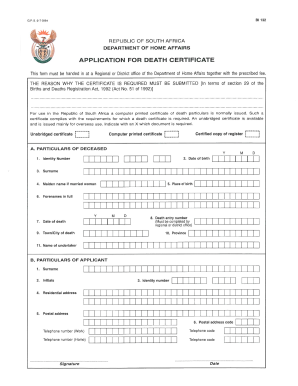 Death certificate sample form templates fillable printable how does a bi 1663 form look like yadclub Images