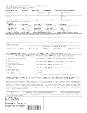 2017-2019 Form Memorial Hermann 73115 Fill Online, Printable