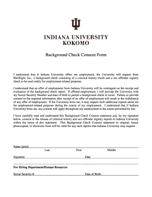 Iu Background Check Fill Online Printable Fillable Blank Pdffiller