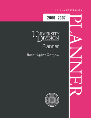 University Division Planner 2006-2007 (PDF) - Indiana University