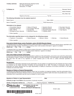 Medical Records Release Form Maryland