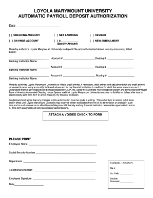 8 Printable Direct Deposit Authorization Form Adp Templates