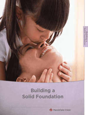 Building a Solid Foundation - Marshfield Clinic - marshfieldclinic