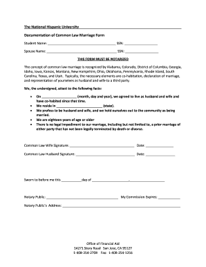 2013 Common Law Marriage Notarization Form Texas