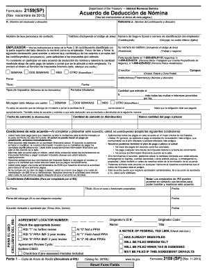 Form 2159 sp rev 1 2007 payroll deduction agreement for Form 2159