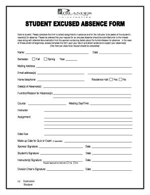 Fillable Online philander Student Absence Form.pdf - Philander ...