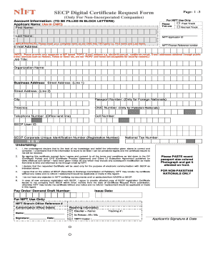 Nift Form For Incorporated Companies - Fill Online, Printable