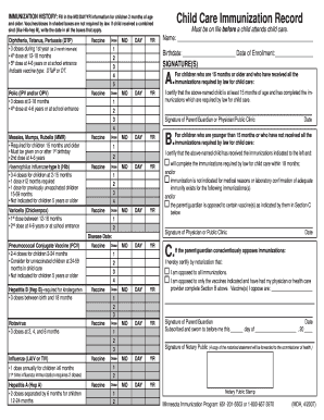 printable immunization records Forms and Templates - Fillable ...