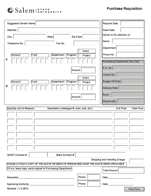 Editable purchase requisition in sap t code - Fill Out, Print