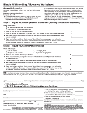2007 Form IL IL-W-4 Fill Online, Printable, Fillable, Blank ...
