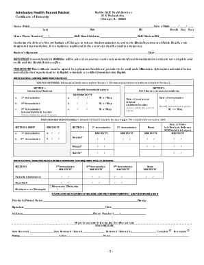 Illinois fillable immunization record form