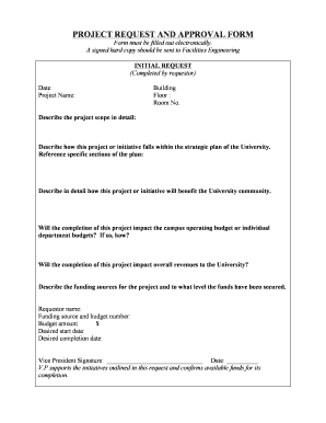 Download Project Request and Approval Form (PDF) - Seton Hall ... - shu