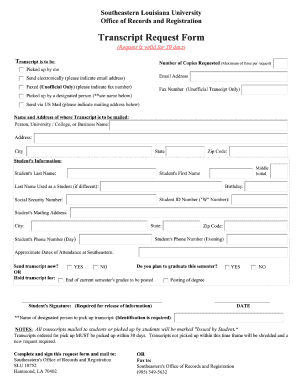 Louisiana Request Form