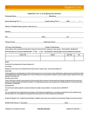 Online Registration At Selu Form - Fill Online, Printable, Fillable ...