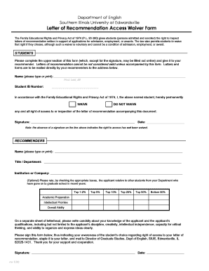 Personal Letters Of Recommendation Forms and Templates - Fillable ...