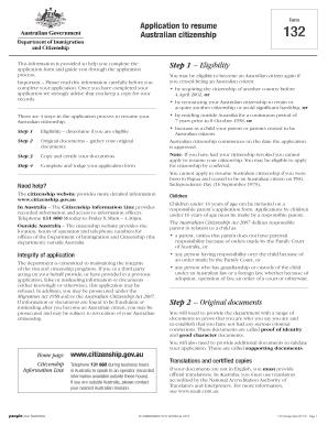 Resume Australian Citizenship Form Fill Online Printable