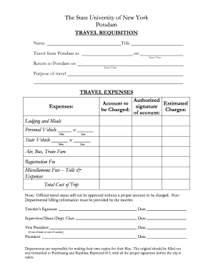traveling requisition formm