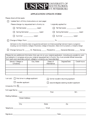 Application essay for usf