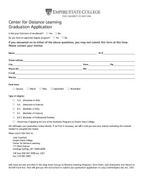 Fillable Online esc CDL Graduation Form.pdf - Empire State College ...