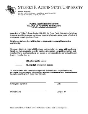 general employee information form