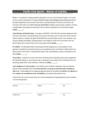 Microsoft Word Waiver Liability Template Form  Generic Liability Waiver And Release Form