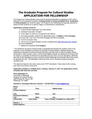 fellowship application essay format