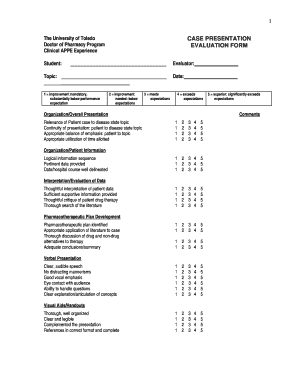 Case Presentation Form · Faculty Evaluation Form