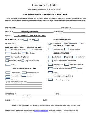 Concentra Forms - Fill Online, Printable, Fillable, Blank