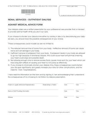 against medical advice letter form