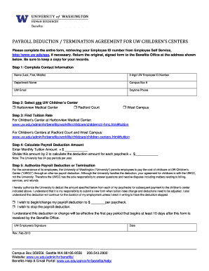 Payroll Deduction form