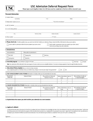 Usc acceptance date