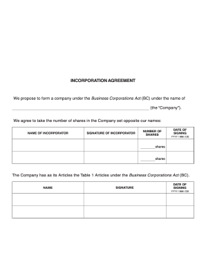 Shareholder agreement sample forms and templates fillable incorporation agreement fillable form platinumwayz