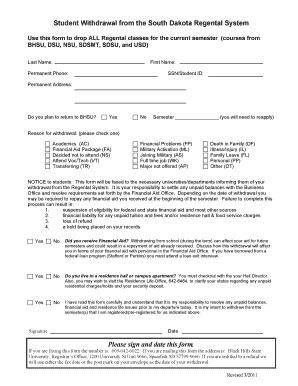This form - Black Hills State University