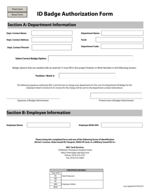 Section A: Department Information