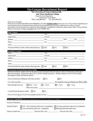 interview request form doc