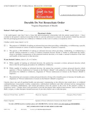 Bill Of Sale Form Virginia Do Not Resuscitate Form Templates ...