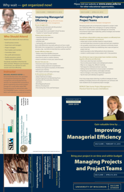 Improving Managerial Efficiency Managing Projects and Project ... - uwec
