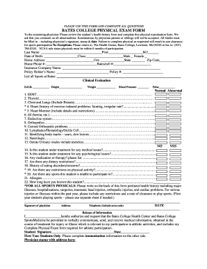 Sport College Form - Fill Online, Printable, Fillable, Blank ...