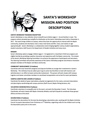 Santa's Workshop Application - Baylor University