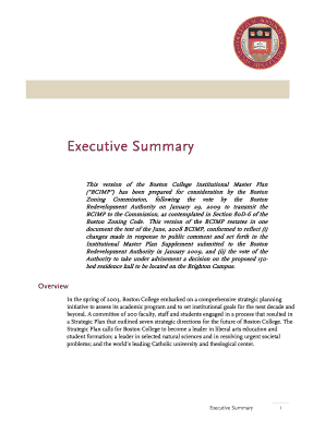 Executive Summary (PDF, 330KB) - Boston College - bc